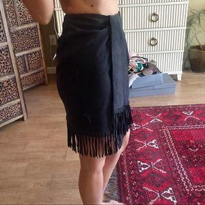 NEW NWT 100% Suede Mini Skirt Anne Klein Vintage